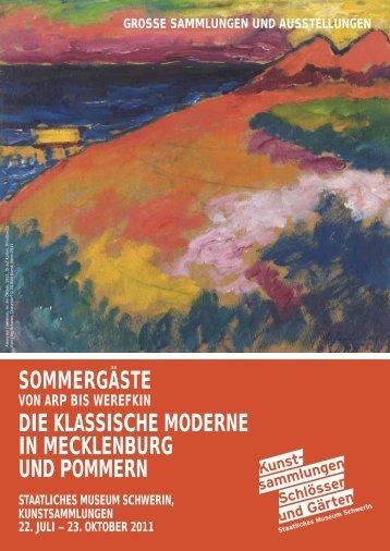 sommergäste die klassische moderne in mecklenburg und pommern