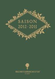 saison 2012 · 2013 - Mozarteum Orchester Salzburg