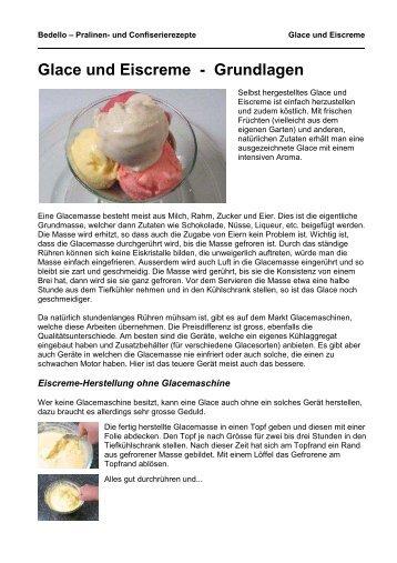 Glace und Eiscreme - Grundlagen - Bedello