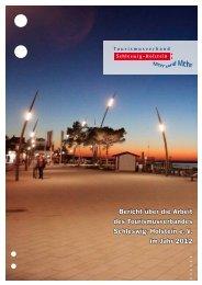 Arbeitsbericht 2012 - Tourismusverband Schleswig-Holstein