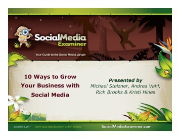 10 Ways to Grow Your Business With Social - Lion's ROAR Marketing