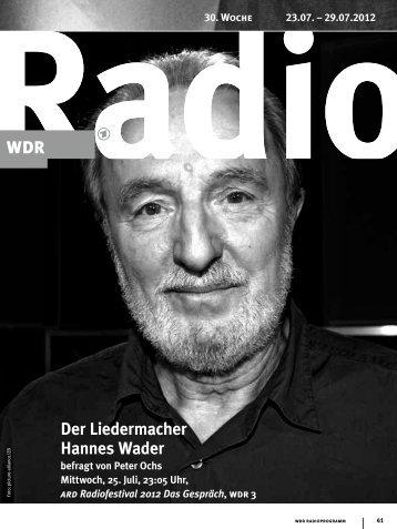 Der Liedermacher Hannes Wader - WDR.de