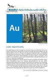 NABU-Naturschutznachrichten - Nr. 5 - (NABU) Landesverband ...