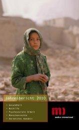 Jahresbericht 2010 - Medico International