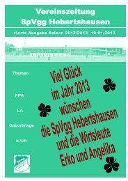 Ausgabe 4 - SpVgg Hebertshausen