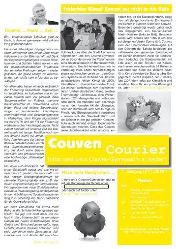 Courier - Couven-Gymnasium Aachen