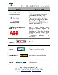 bacood industrial supply co., inc. - EYP Business Showcase Pages