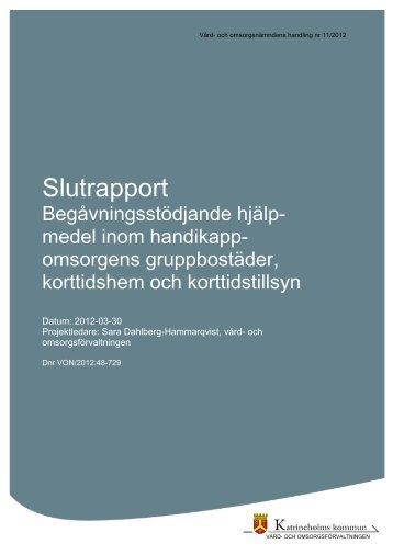 Slutrapport Begåvningsstödjande hjälpmedel inom ... - Katrineholm