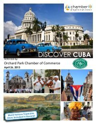 DISCOVER CUBA - The Orchard Park Chamber of Commerce