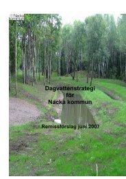 Dagvattenstrategi för Nacka kommun