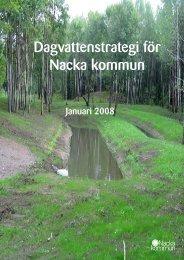 Dagvattenstrategi för Nacka kommun 2008