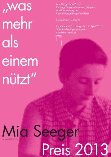 Mia-Seeger-Preis2013Ausschreibung (PDF) - VDID