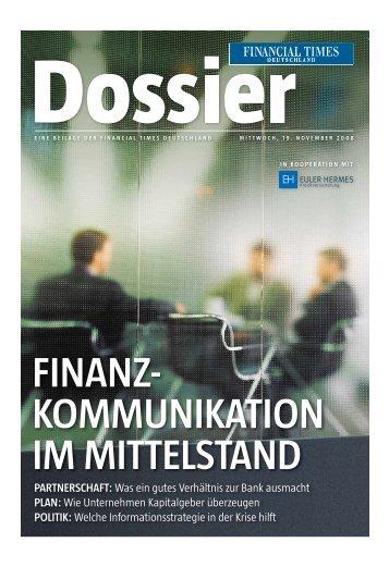 Financial Times Deutschland vom 19.11.2008 Dossier