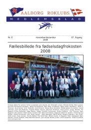 Fællesbillede fra fødselsdagfrokosten 2008 - Aalborg Roklub