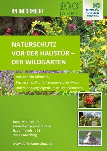 BN informiert: Naturschutz vor der Haustür - Der Wildgarten - Bund ...
