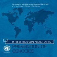 PREVENTION OF GENOCIDE