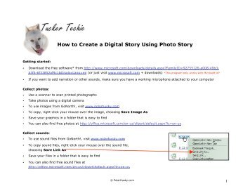 How to Create a Digital Story Using Photo Story - GoNorth ...