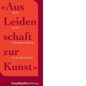 Der Ausstellungsort «Hansmatt» in Stans (NW) - Frey-Näpflin-Stiftung