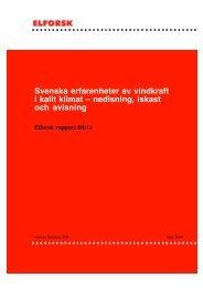 Svenska erfarenheter av vindkraft i kallt klimat ... - Vindlov.se