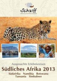 Erlebnisreisen Südliches Afrika - Scharff-Reisen.de