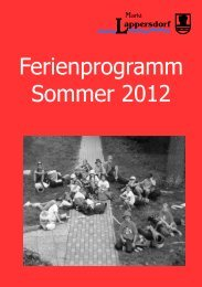 Ferienprogramm Sommer 2012 - Markt Lappersdorf