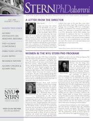 STErNPhDalumni - NYU Stern School of Business
