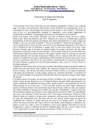 Esperienze di traduzione letteraria Tina D'Agostini
