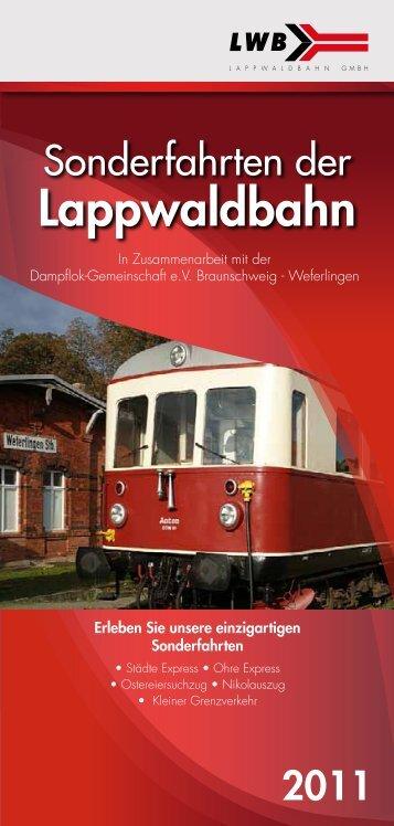 Sonderfahrten der - Lappwaldbahn GmbH