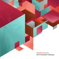 NSCAD University Graduation Catalogue 2012- Download the PDF