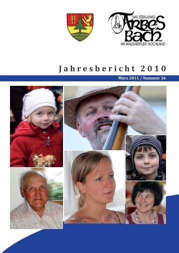 Jahresbericht 2010 - Arbesbach