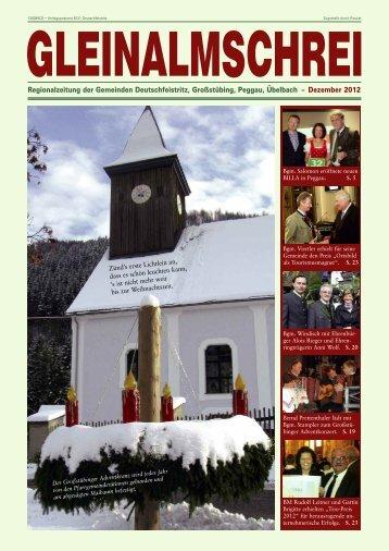 Gleinalmschrei, Dezember 2012 - Marktgemeinde Deutschfeistritz