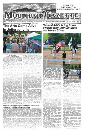 The Arts Come Alive in Jeffersonville - Mountain Gazette