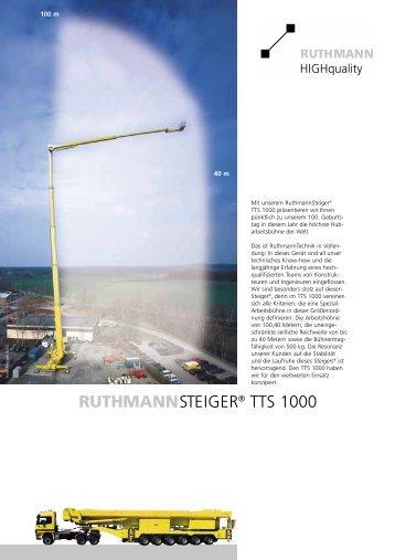 steiger tts 1000 - Ruthmann