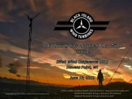 Black Island Wind Turbines - Small Wind Conference