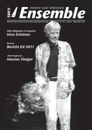 Irina Schönen Bericht DV 2011 Hannes Steiger - SBKV