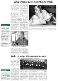 Anni Perka küsst Steinheim wach - Stadt Steinheim
