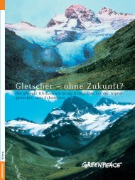 Gletscher – ohne Zukunft? - Greenpeace