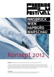 Konzept Freeride Filmfestival Tour 2012 - Programat