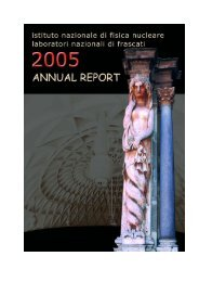 the 2005 annual report - LNF - Infn