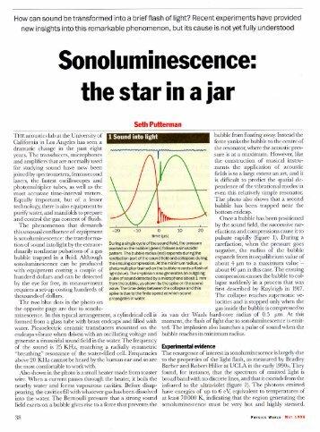 Sonoluminescence.pdf - UCLA Physics & Astronomy