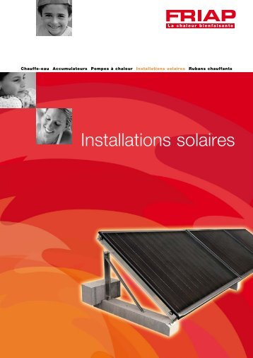Installations solaires individuelles FRIAP - Friap AG