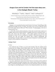 Kuzgun Cave and its Context: the first super ... - Cavediggers.com