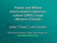 Poplar and Willow Poplar and Willow short-rotation-intensive -- culture