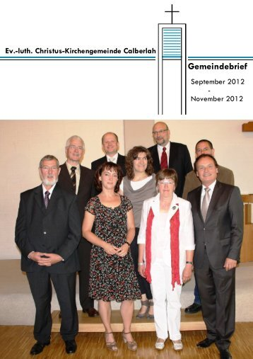 Gemeindebrief Sep 2012 - Christus-Kirchengemeinde Calberlah