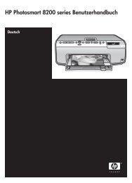HP Photosmart 8200 series Benutzerhandbuch