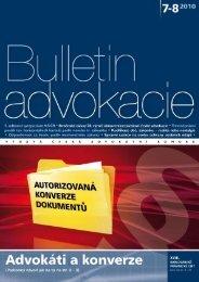 82.Bulletin advokacie - Číslo 7-8/2010 - Česká advokátní komora