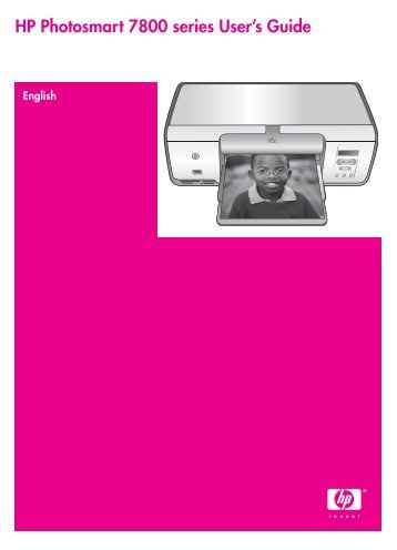 HP Photosmart 7800 series User's Guide