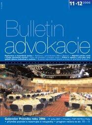 Bulletin advokacie - Česká advokátní komora