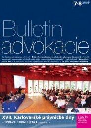 50.48.Bulletin advokacie - Česká advokátní komora