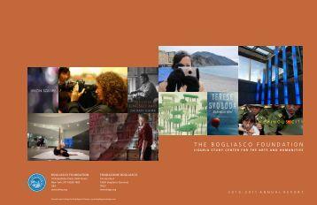 2010-2011 Annual Report - The Bogliasco Foundation